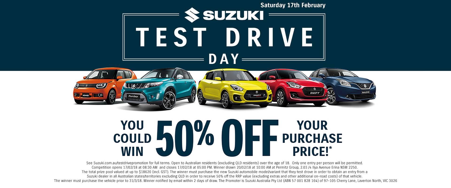 Suzuki Test Drive Day