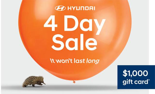 Hyundai 4 Day Sale Offers