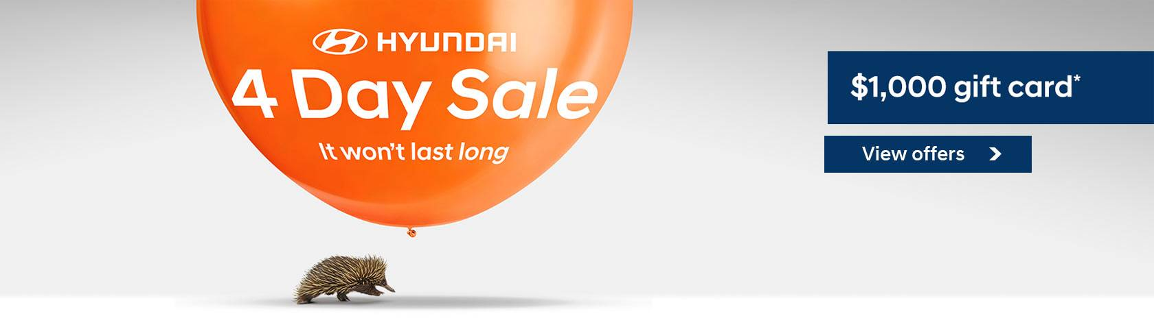 Hyundai Dealer 4 Day Sale