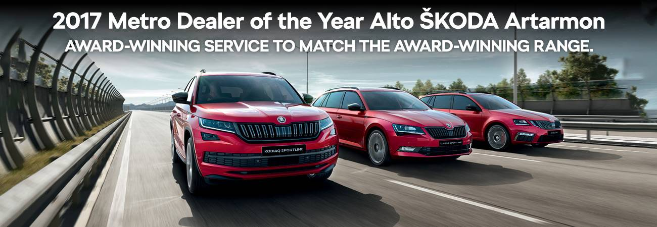 2017 Metro Dealer of the Year Alto Skoda Artarmon