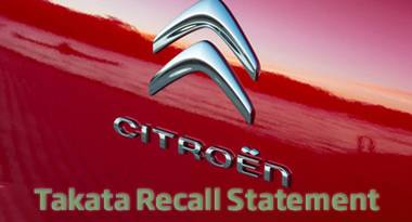 Takata Airbag Recall Statement