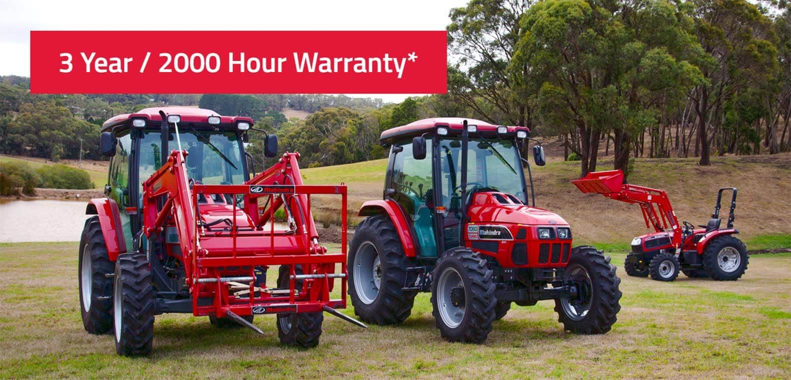 Mahindra AG - 3 Year Warranty