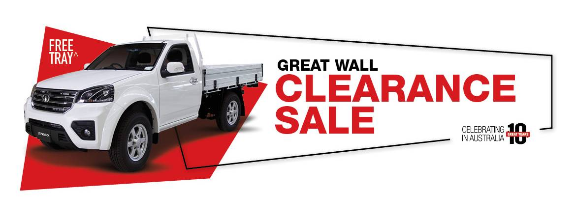Great Wall Clearance Sale