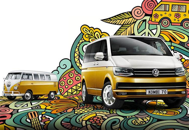 Volkswagen 'Kombi 70' Multivan - Test drive now at Keystar Volkswagen