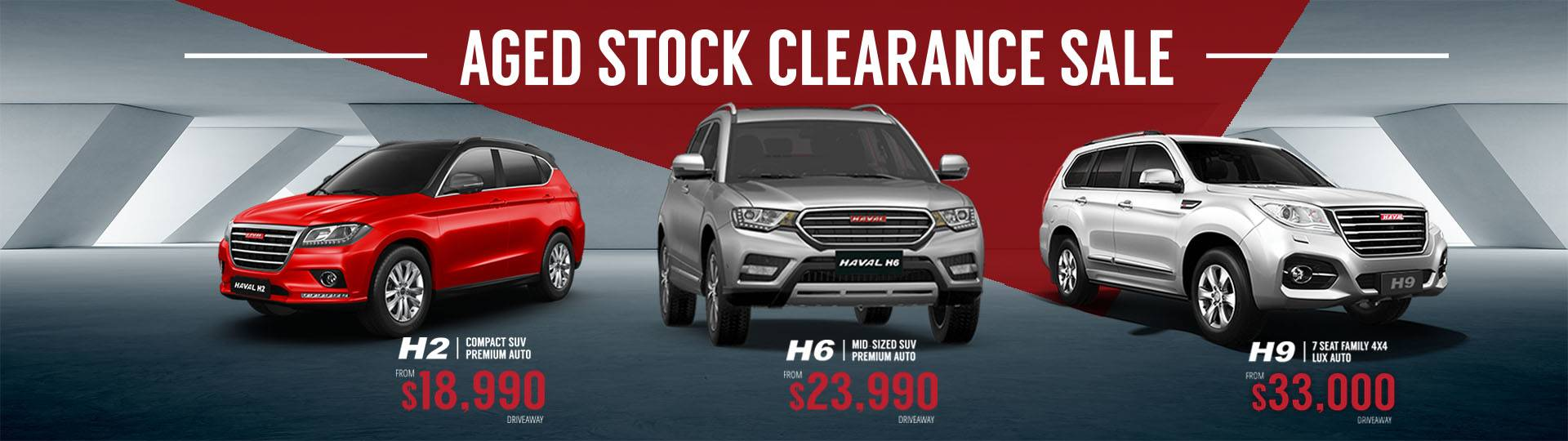 Hunter Haval - Aged Stock Clearance Sale