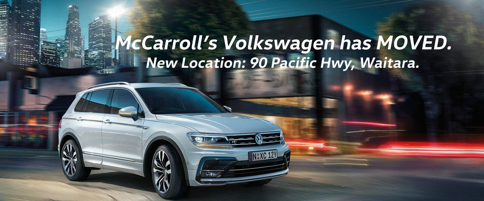 McCarrolls Volkswagen has moved location