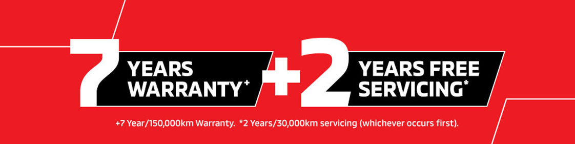 Mitsubishi 7 Years Warranty + 2 Years Free Servicing