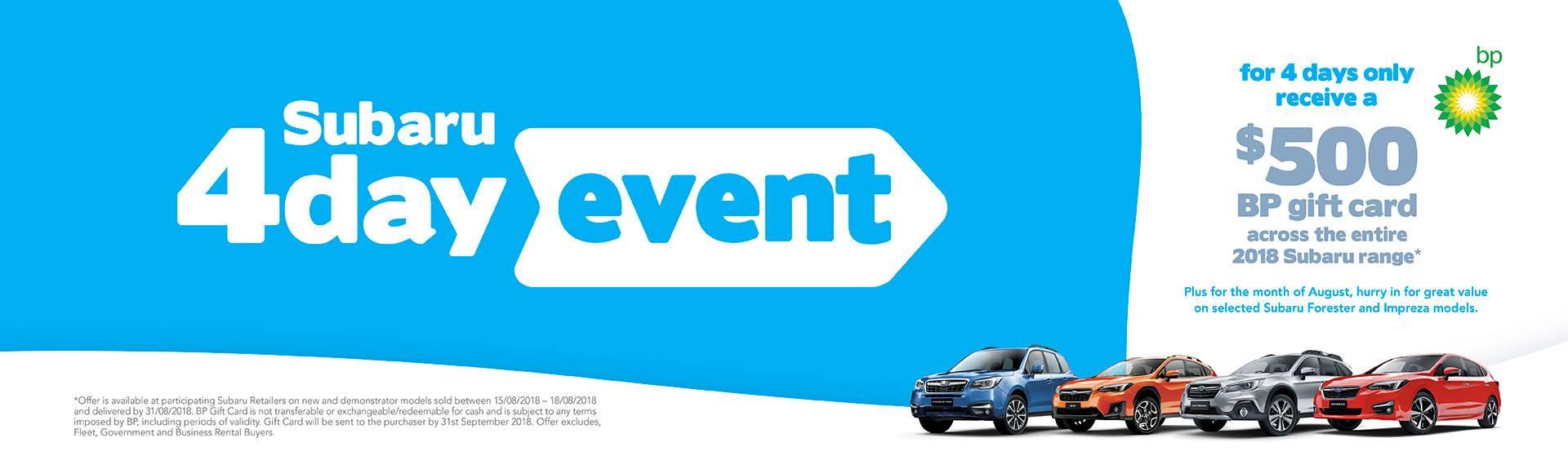Subaru 4 Day Sale Victoria