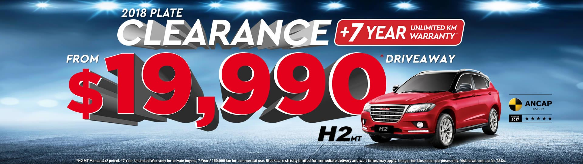 HAVAL 2018 Plate Clearance