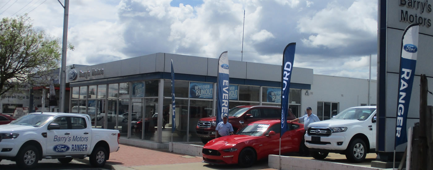 Barry's Motors Inverell - New Ford Stock
