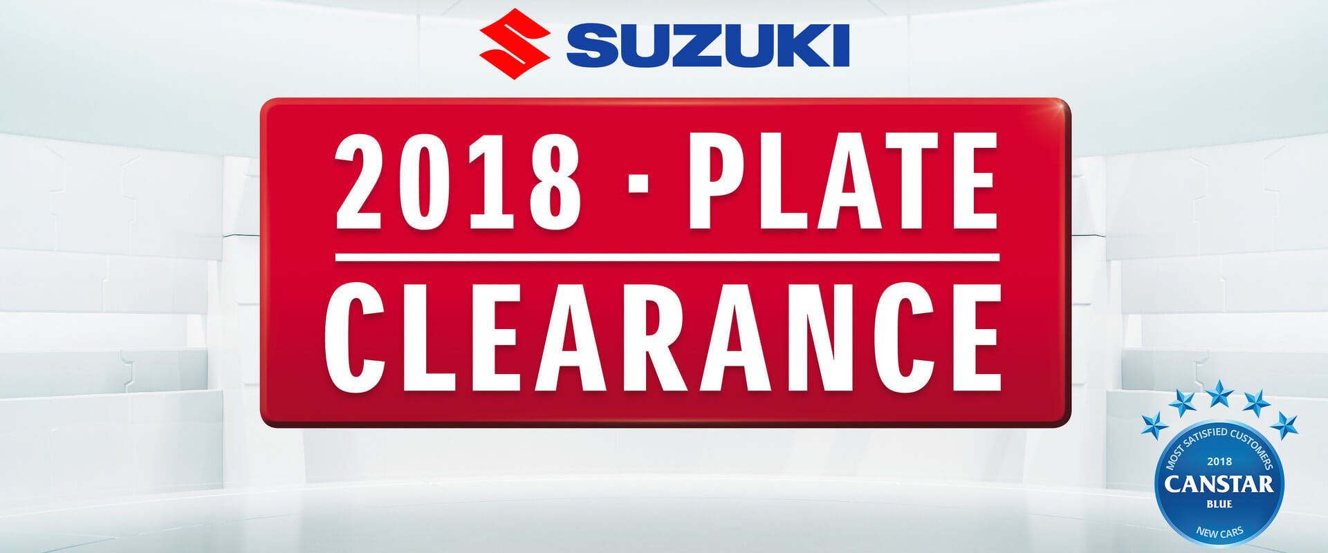 Suzuki 2018 Plate Clearance
