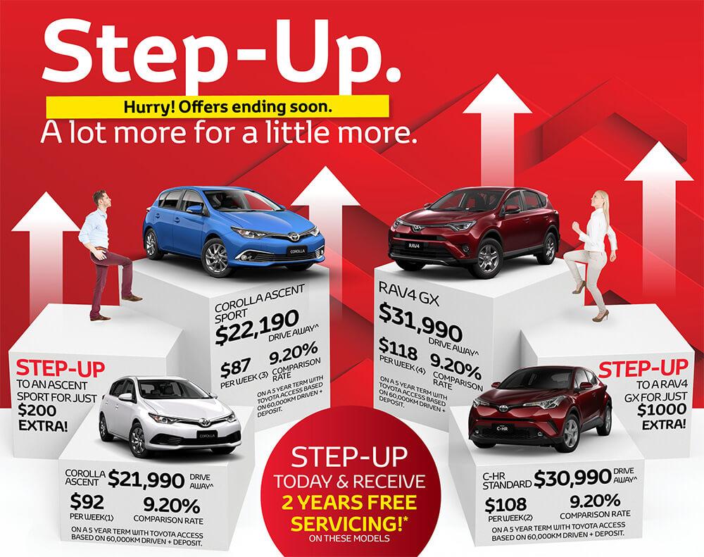 Step Up Sale
