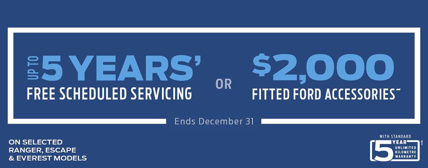 5 Year Free Scheduled Servicing