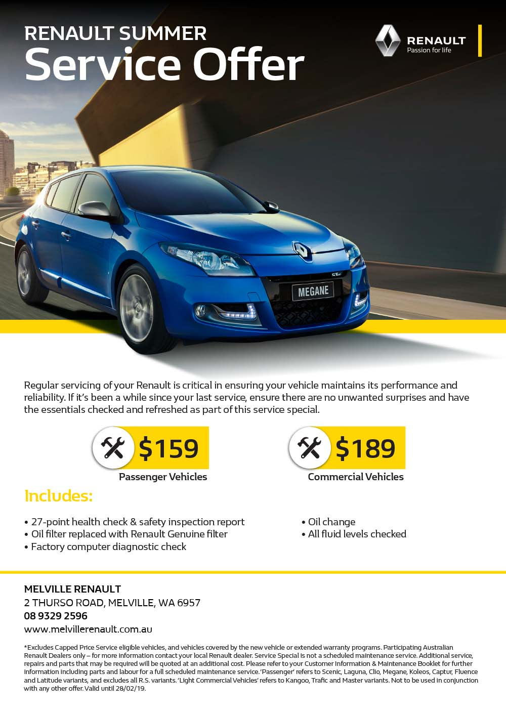 Renault Summer Service Offer
