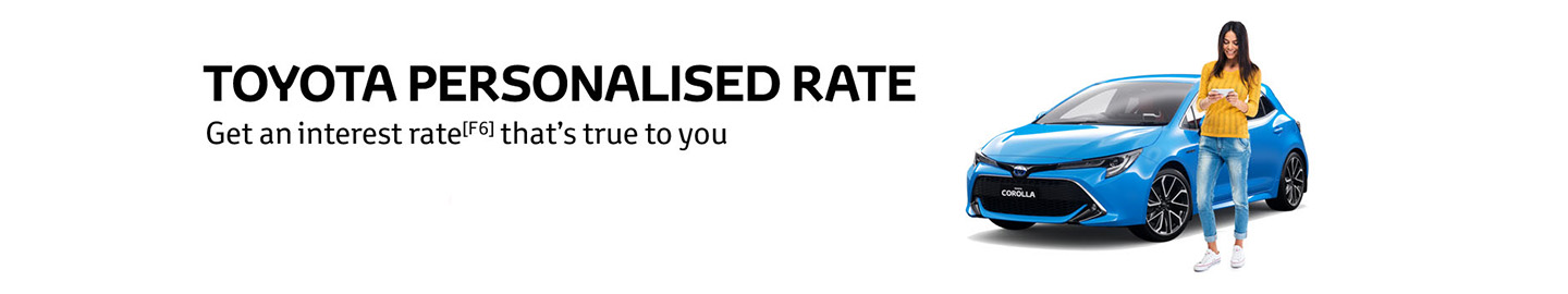 Toyota Personalised Rates