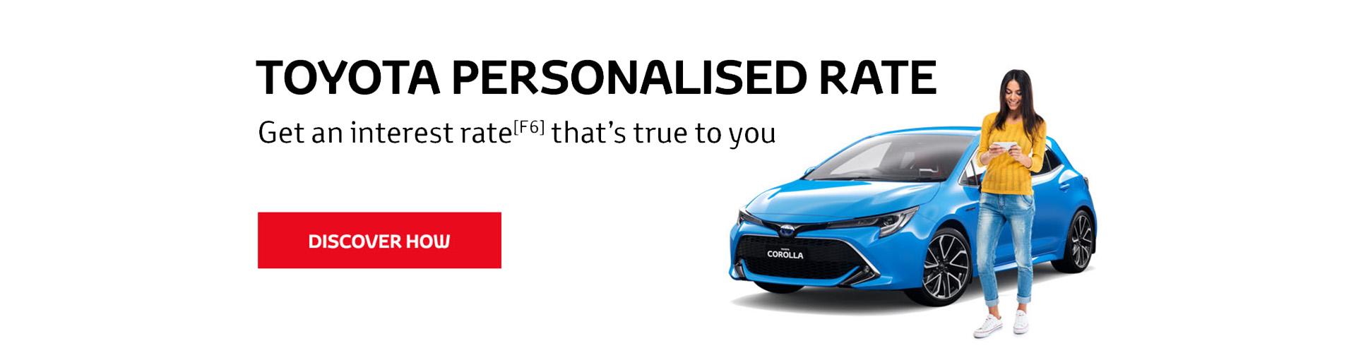 Toyota Personalised Rates