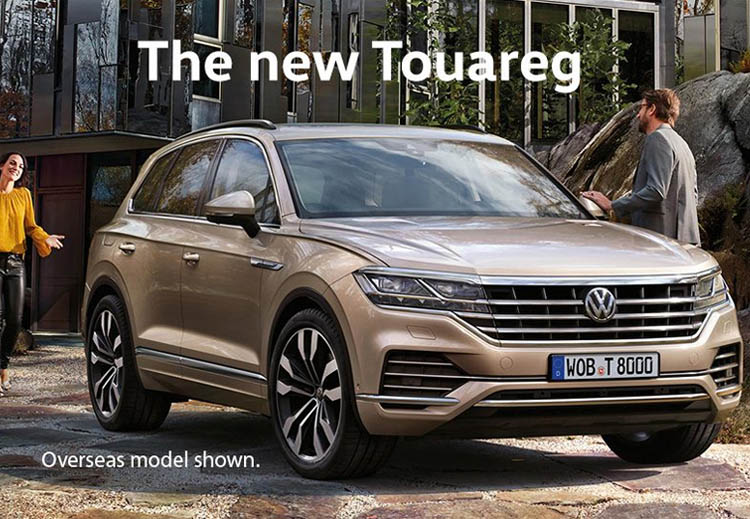 The new Touareg will arrive in Australia in 2019.