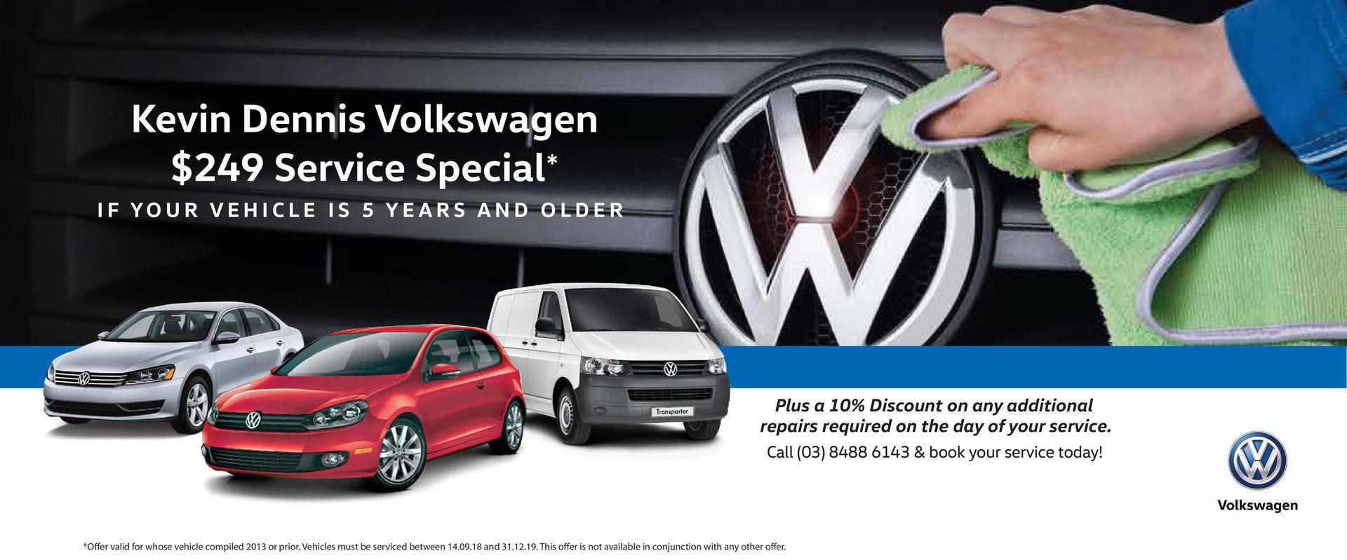Kevin Dennis Volkswagen - $249 Service Special