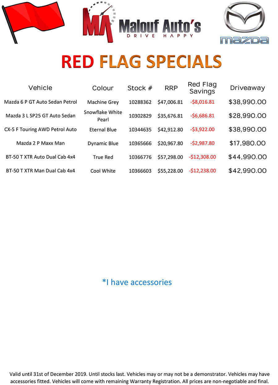 Red Flag Specials
