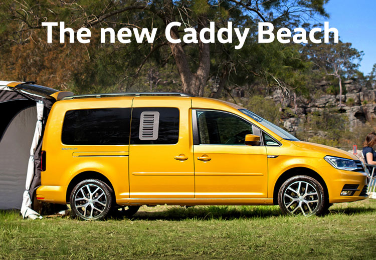 The new Caddy Beach will arrive in Australia in 2019.