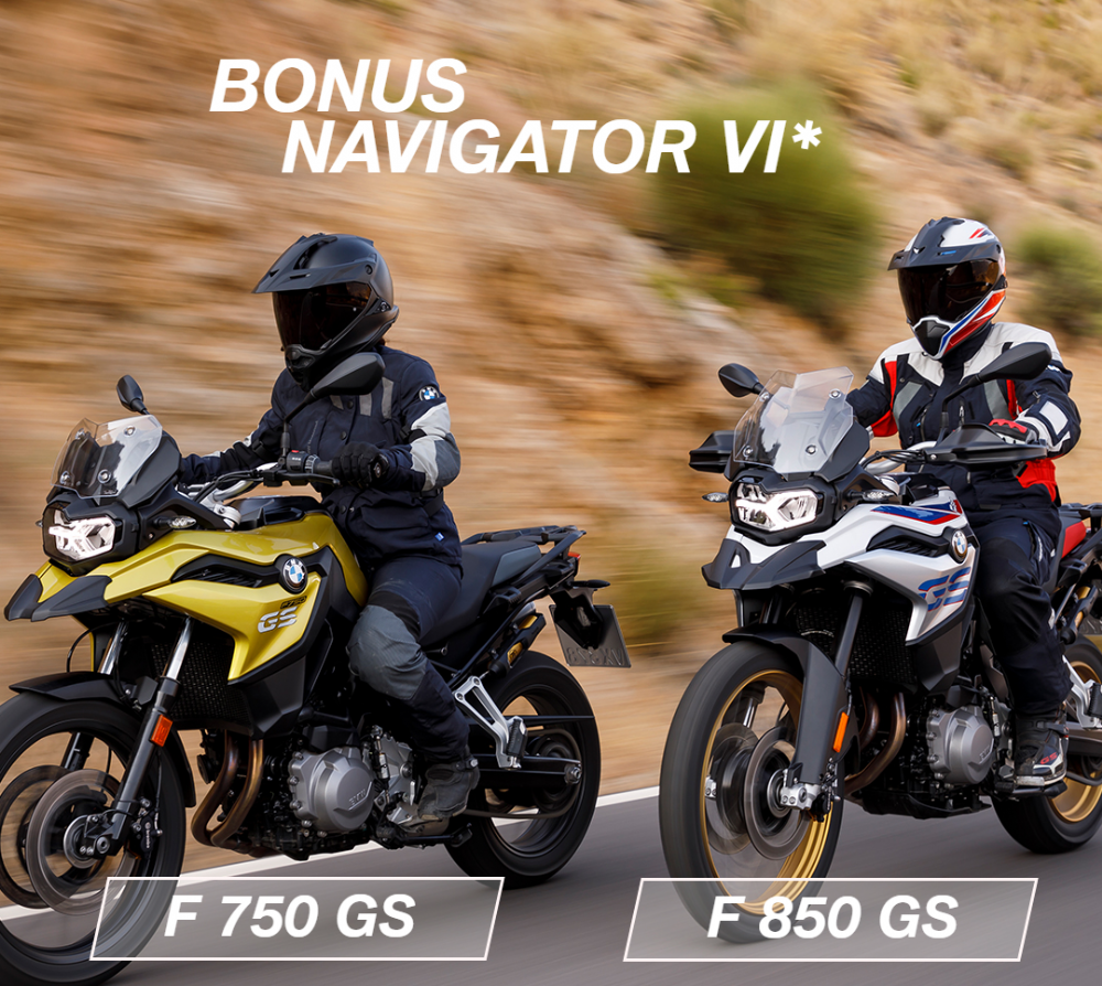 Bonus Navigator VI on New BMW F 750 & 850 GS Models