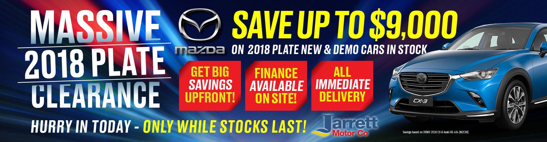Jarrett Mazda - 2018 Plate Clearance