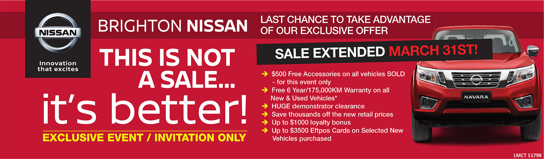 Brighton Nissan - This Is Not A Sale