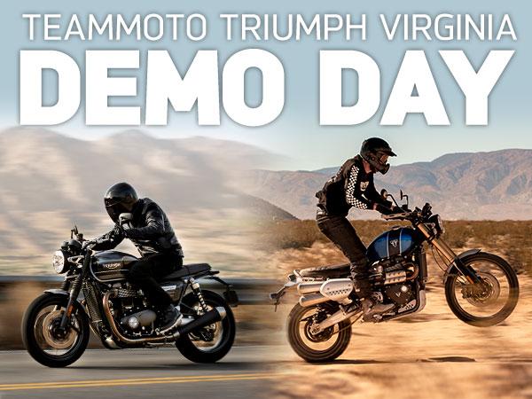 TeamMoto Triumph Virginia - Scrambler & Speed Twin Demo Day
