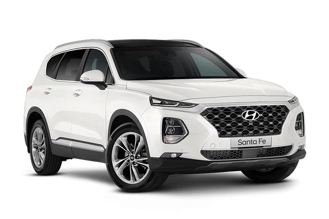 Hyundai Santa Fe Highlander White