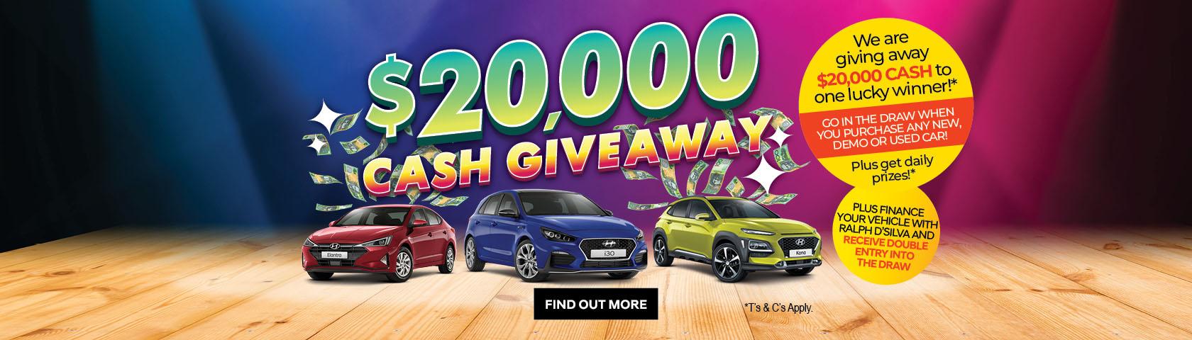Ralph D'Silva Hyundai - $20K Cash Giveaway