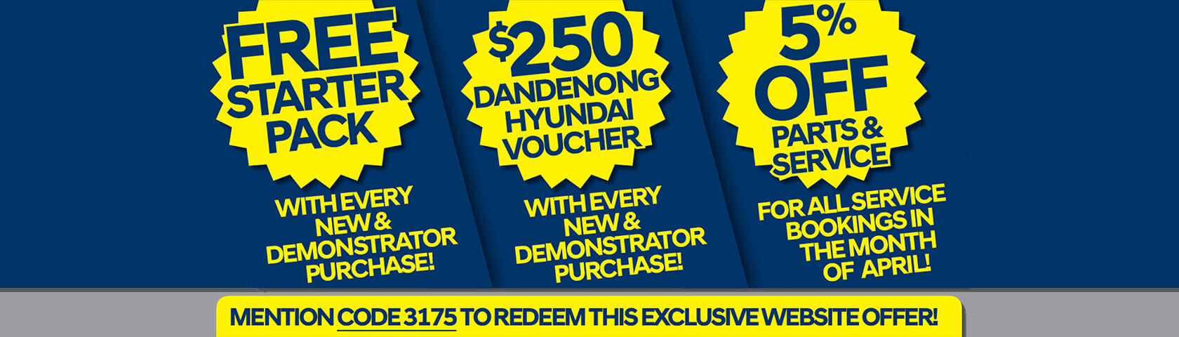 Dandenong Hyundai April Offers
