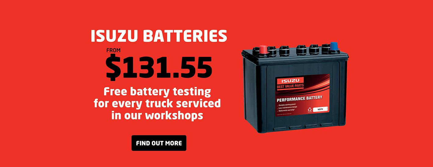 Brisbane Isuzu Trucks - Batteries
