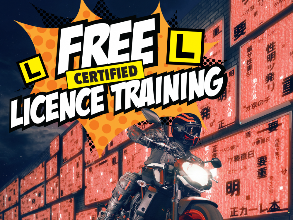 RECEIVE FREE CERTIFIED RIDER LICENCE TRAINING