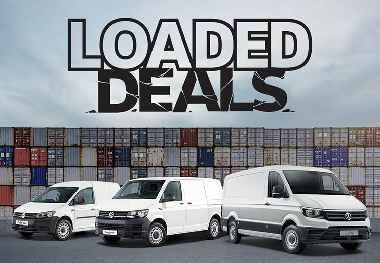 Loaded Deals is now on selected Volkswagen Commercial Vehicles at Port Lincoln Volkswagen, Port Lincoln SA.