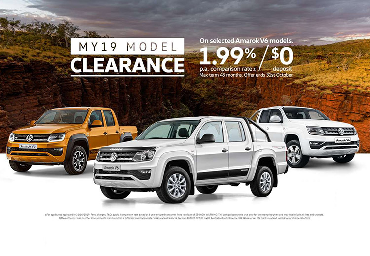 MY19 Model Clearance is now on selected Volkswagen Commercial Vehicles at Lennock Volkswagen, Phillip ACT.
