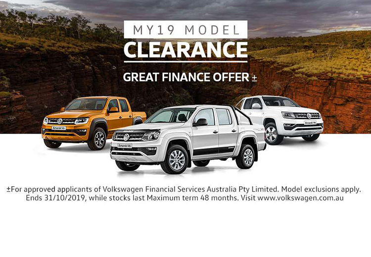 MY19 Model Clearance is now on selected Volkswagen Commercial Vehicles at Central Coast Volkswagen, North Gosford NSW.