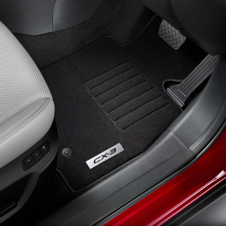 Tailor-made to fit your Mazda CX-3 perfectly, these slip-resistant, durable floor mats offer extra protection for your interior carpet.
