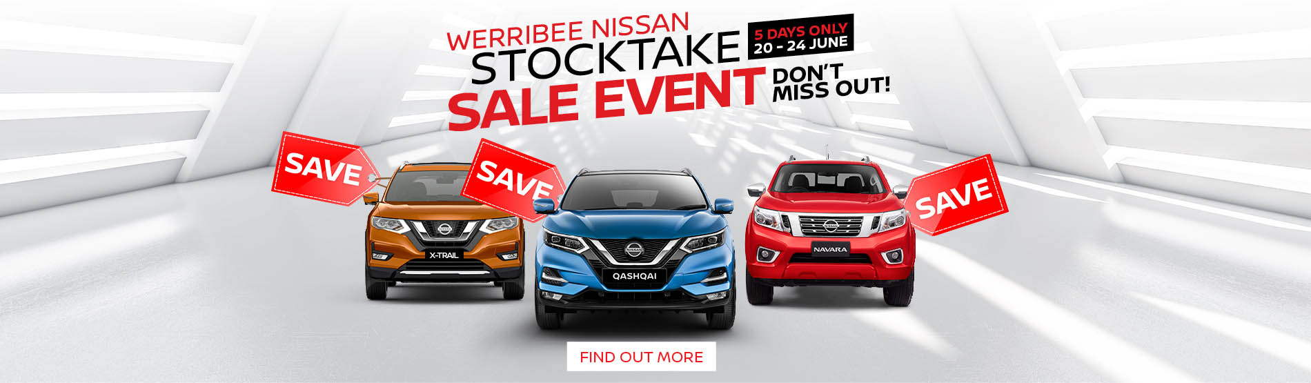 Werribee Nissan Stocktake Sale Event