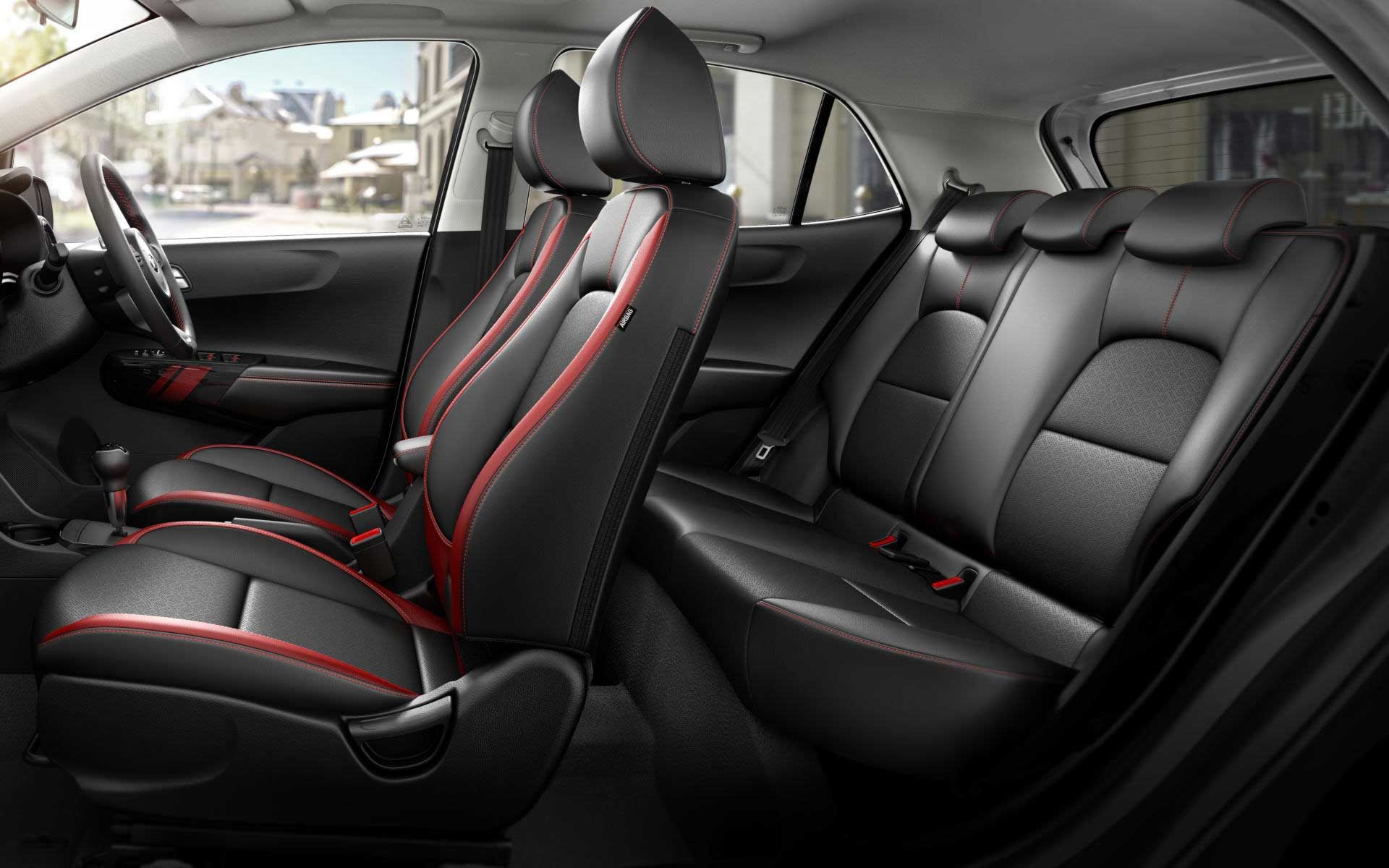 kia picanto interior seating