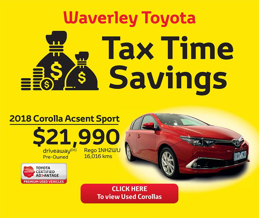 Waverley Toyota Tax Time Savings