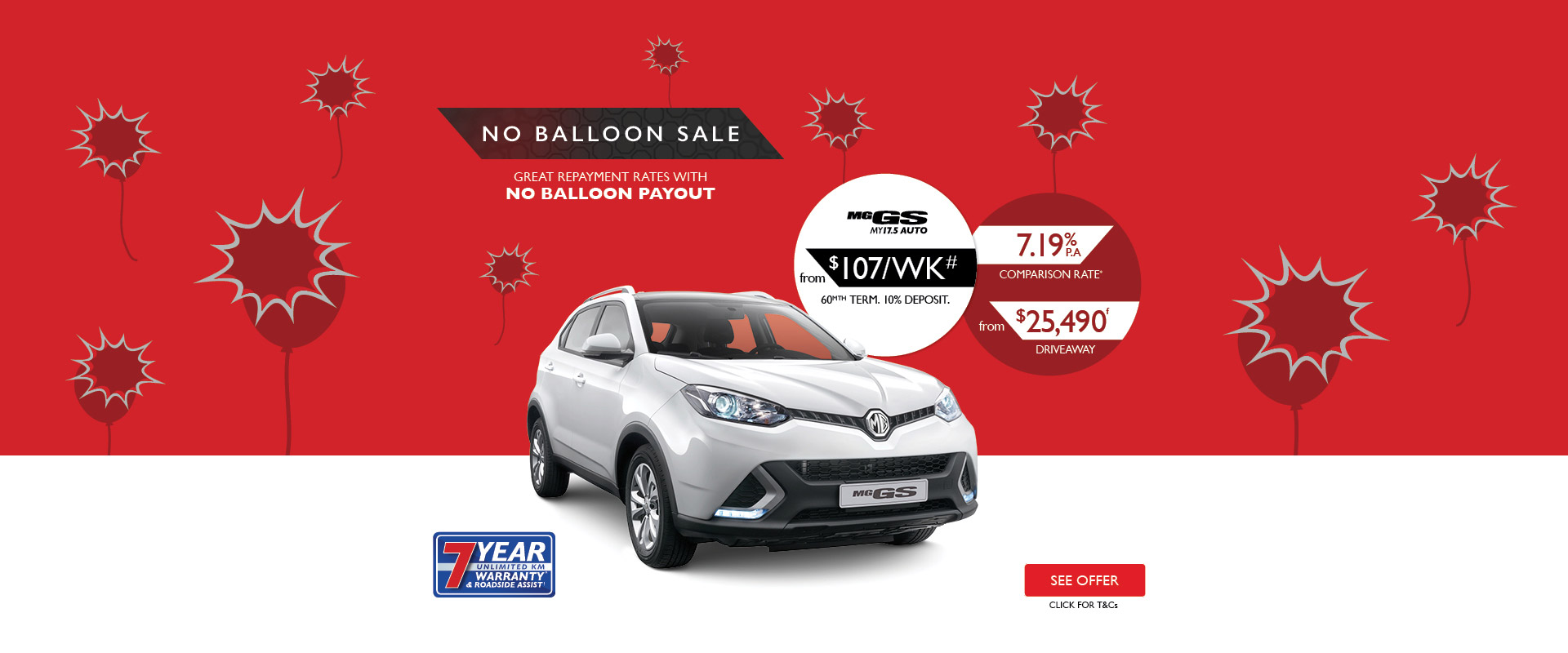 MG - No Balloon Sale - MG GS