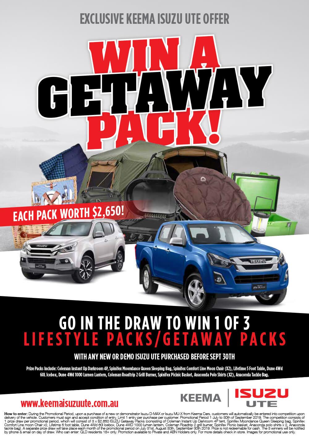 Win a Getaway Pack