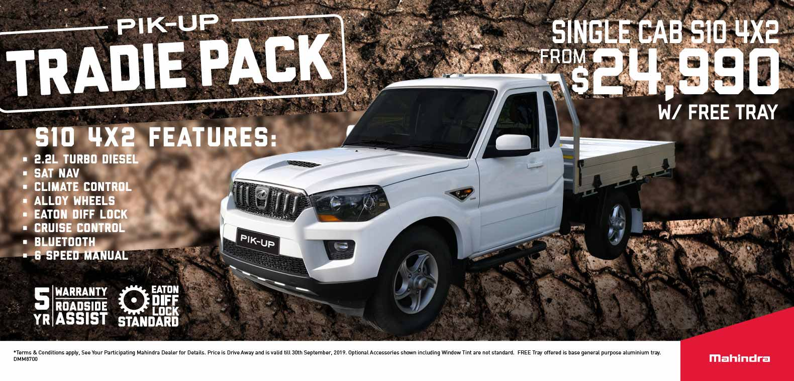 Mahindra Tradie Pack Offer