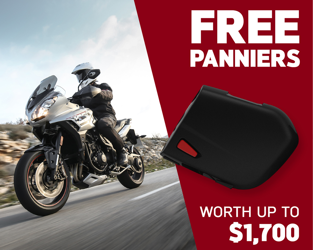 Free Panniers worth up to $1,700