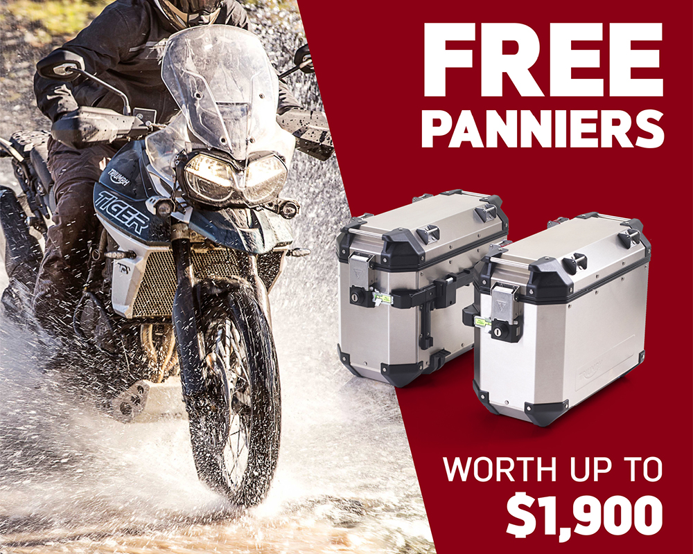 Free Panniers worth up to $1,900