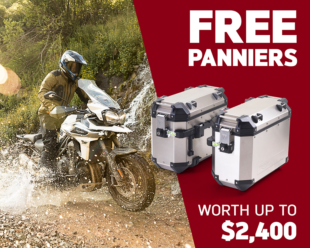 Free Panniers worth up to $2,400