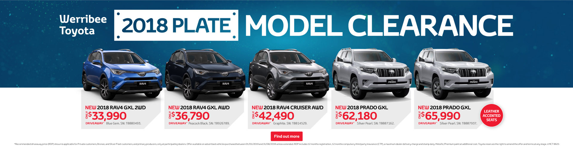 Werribee Toyota 2018 Model Clearance
