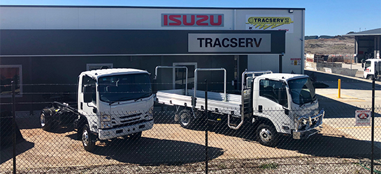 Tracserv Isuzu Trucks Orange