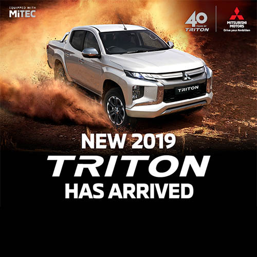 NEW 2019 TRITON HAS ARRIVED