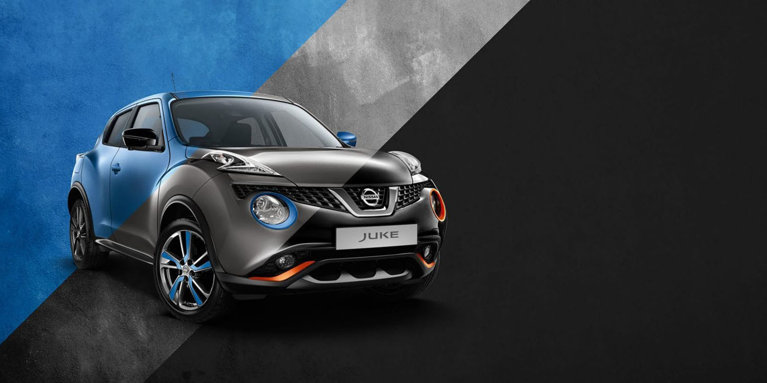 tri-coloured Nissan JUKE